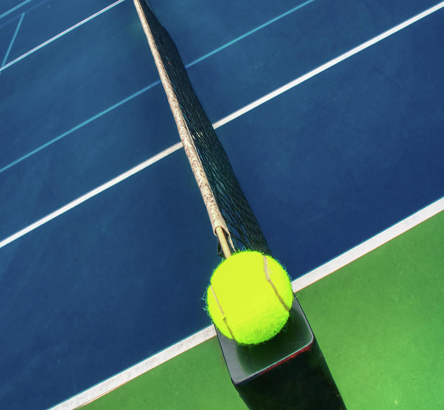 Tennis Ball And Tennis Court Together by Gary Slawsky