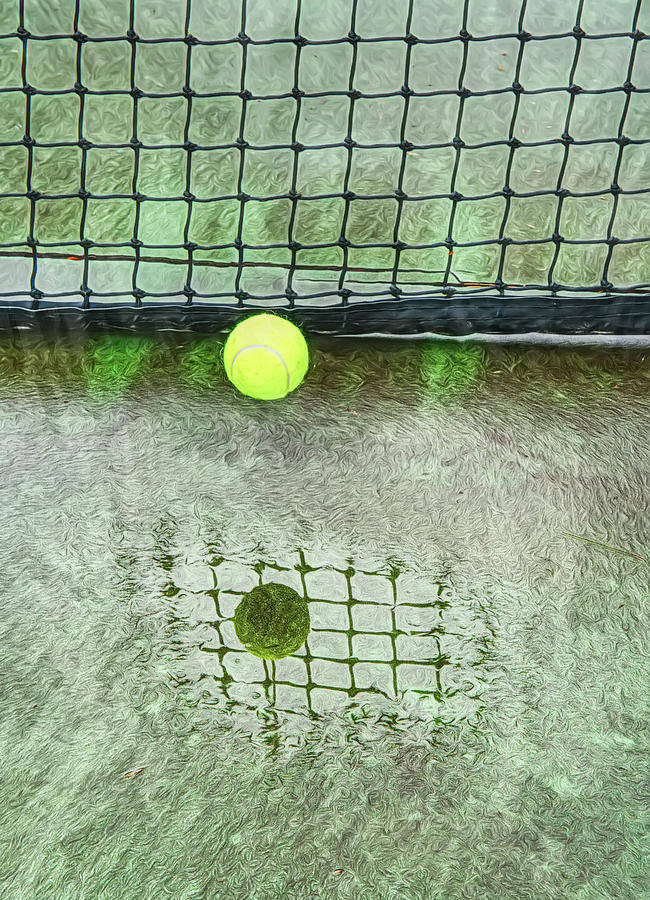Tennis Court Abstract And Reflections by Gary Slawsky