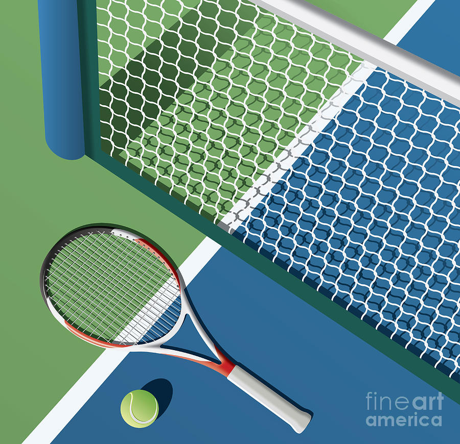 Play Digital Art - Tennis Court by Nikola Knezevic
