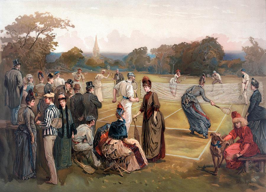 Tennis in 1886 by Carlos Diaz