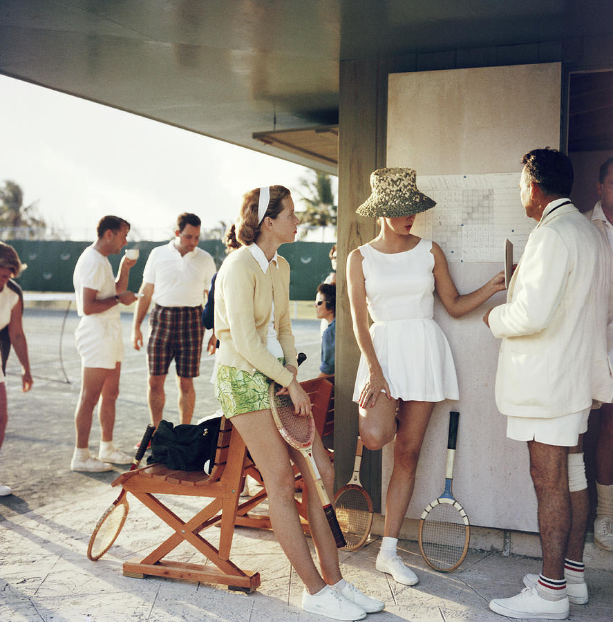 Tennis Photograph - Tennis In The Bahamas by Slim Aarons