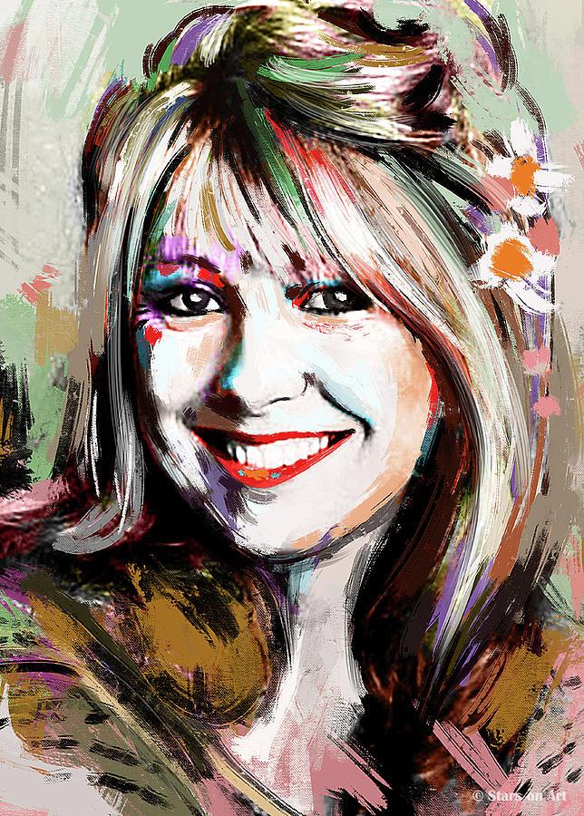 Teri Garr Portrait Painting