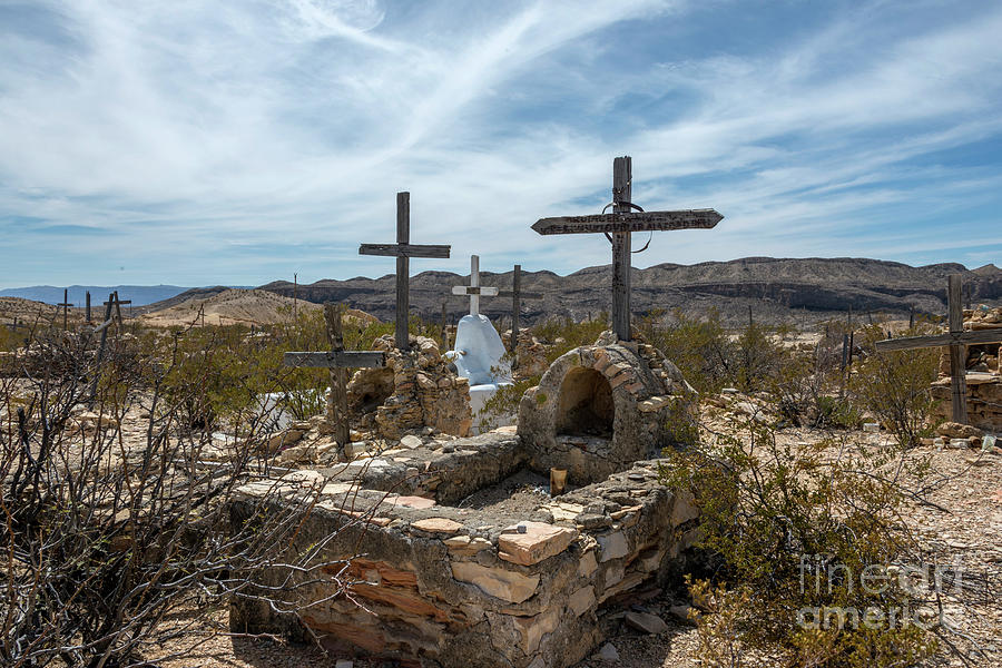 Cemetery Photograph - Terlingua Cemetery by Joe Sparks
