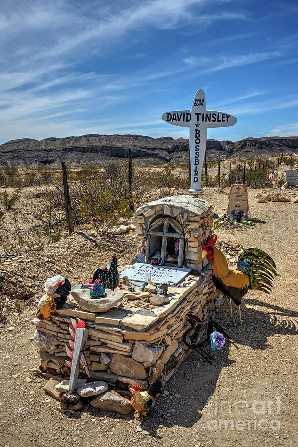 Cemetery Photograph - Terlingua Grave by Joe Sparks