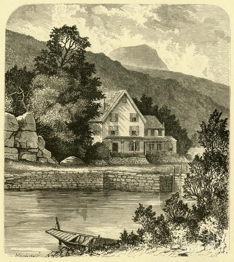 Terrace House And Thorn Mountain Drawing by Print Collector