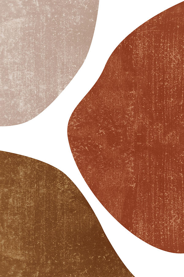 Terracotta Art Print 1 - Terracotta Abstract - Modern, Minimal, Contemporary Abstract - Brown, Beige Mixed Media