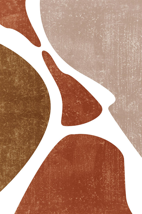 Terracotta Art Print 3 - Terracotta Abstract - Modern, Minimal, Contemporary Abstract - Brown, Beige Mixed Media