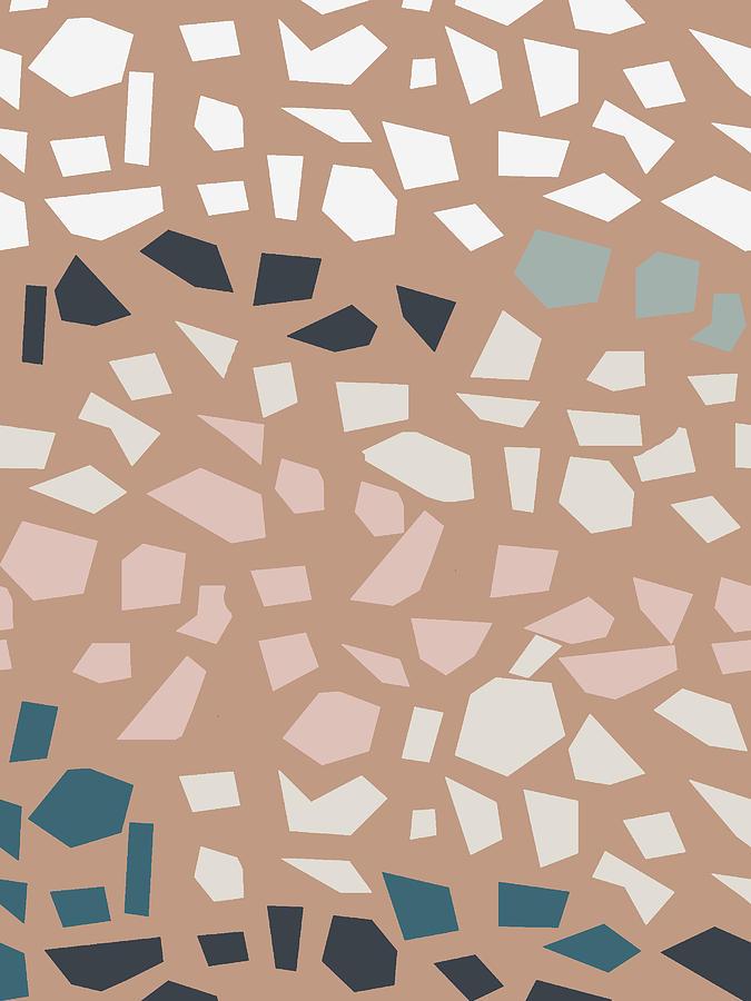 Terrazzo 4- Art by Linda Woods by Linda Woods