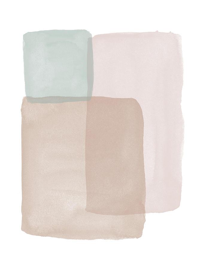 Terrazzo Watercolor Blocks 1- Art by Linda Woods by Linda Woods