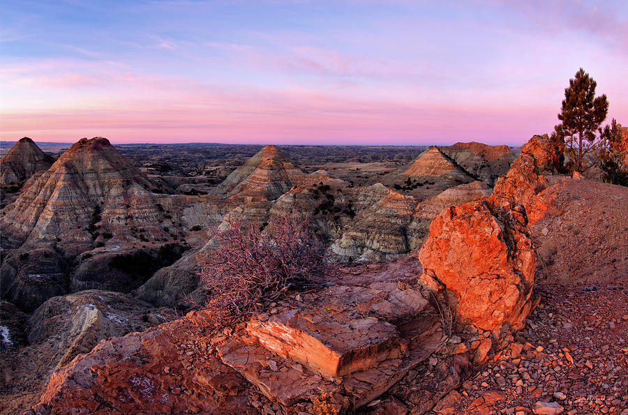 Balance Photograph - Terry Badlands Sunrise by Leland D Howard