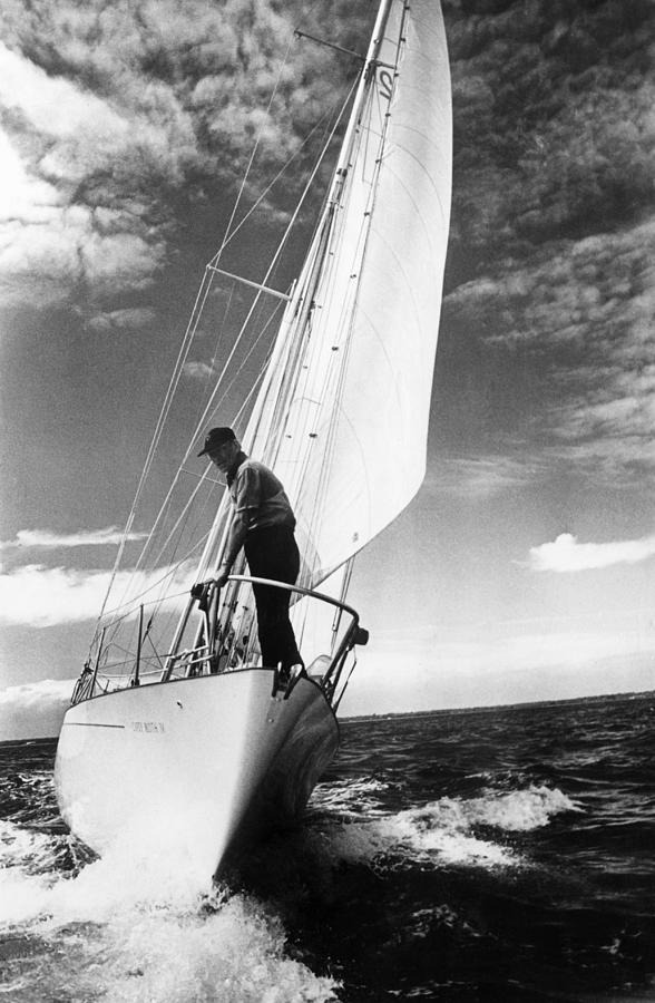 Test Sail Photograph by David Ashdown