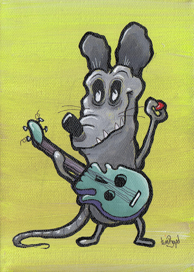 Rat Painting - Testing by Tim Boyd