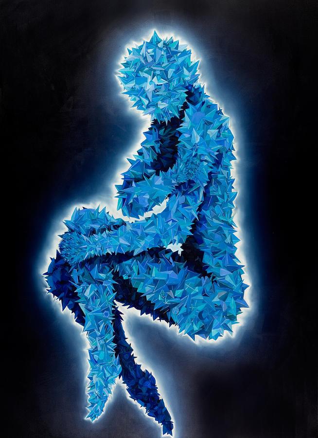 Testobject 341 Blue Painting by Benjamin Hummitzsch