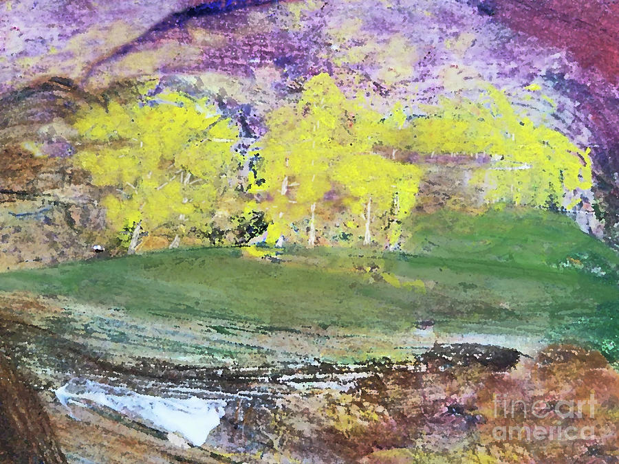 Landscape Painting - Teton Aspen Forest 300 by Sharon Williams Eng