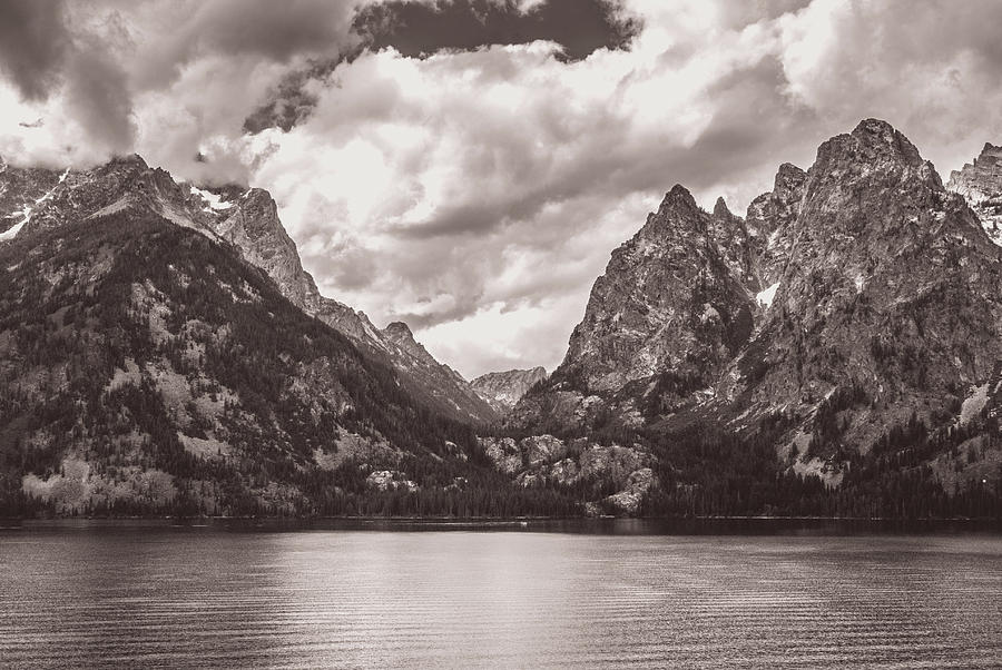 Tetons and River  6093 by G L Sarti