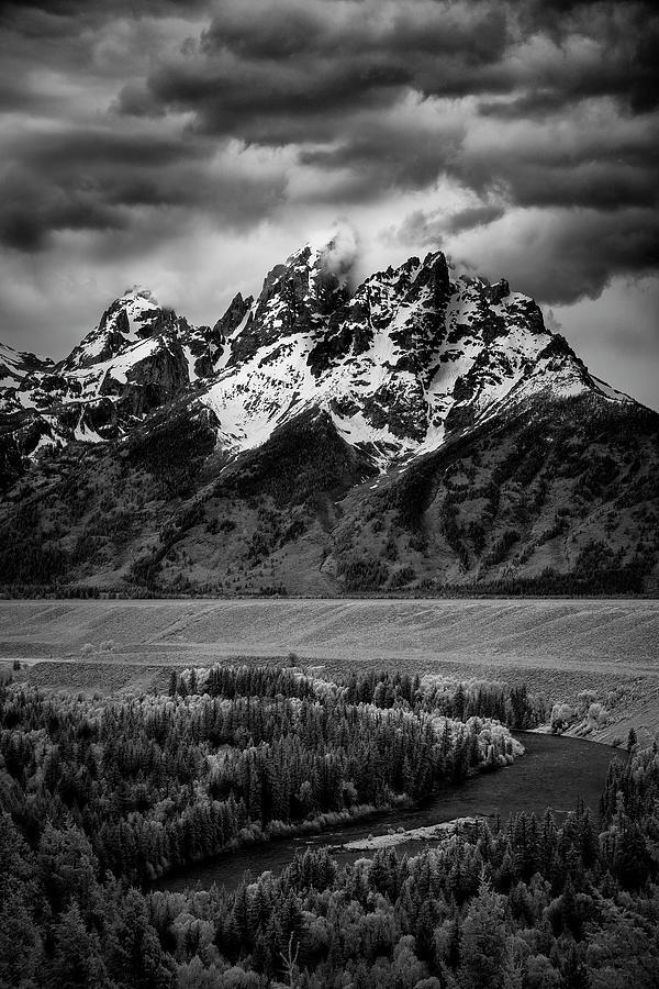 Tetons over the Snake River II by Jon Glaser
