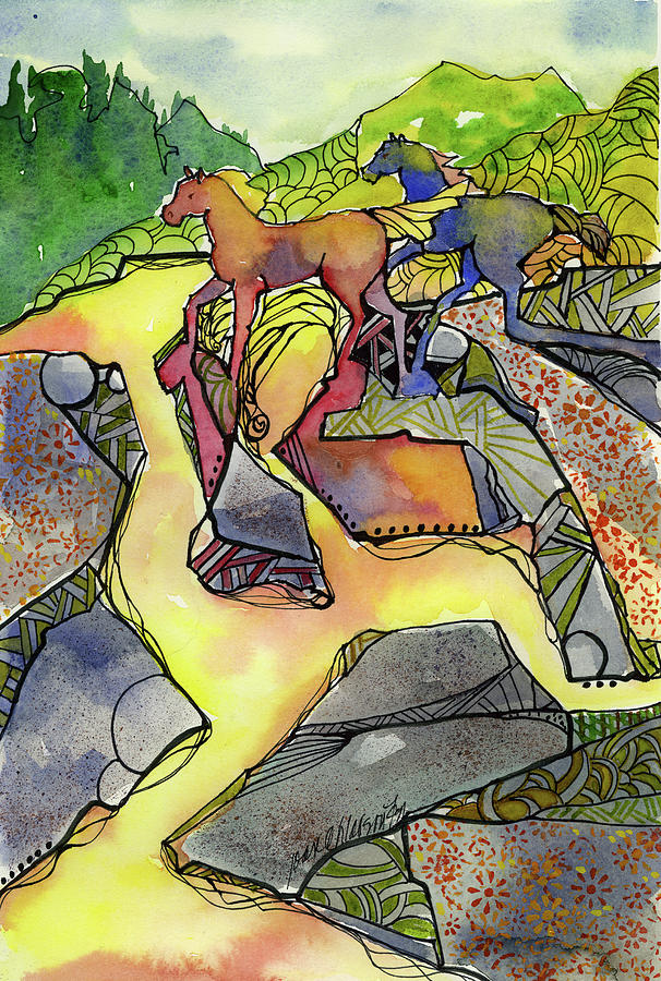 Tevis Ponies by Joan Chlarson