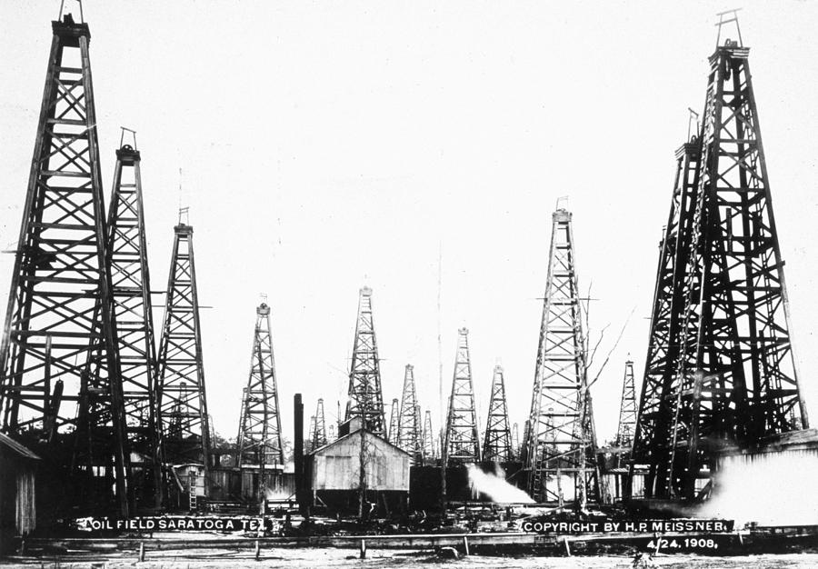 Texan Oilfield Photograph by H. P. Meissner