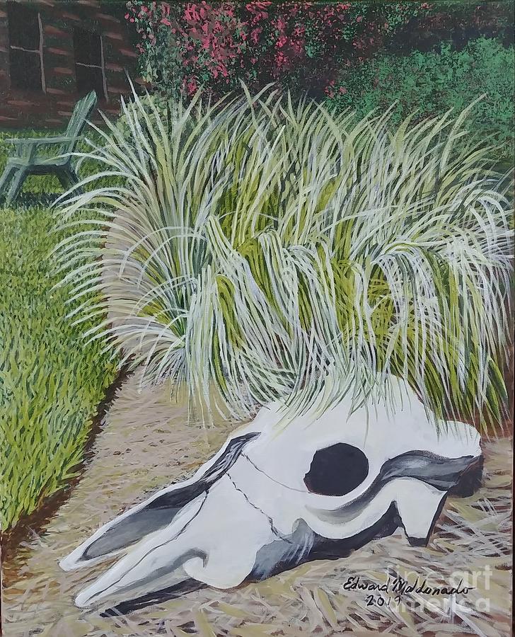Texas Painting - Texan Yard by Edward Maldonado