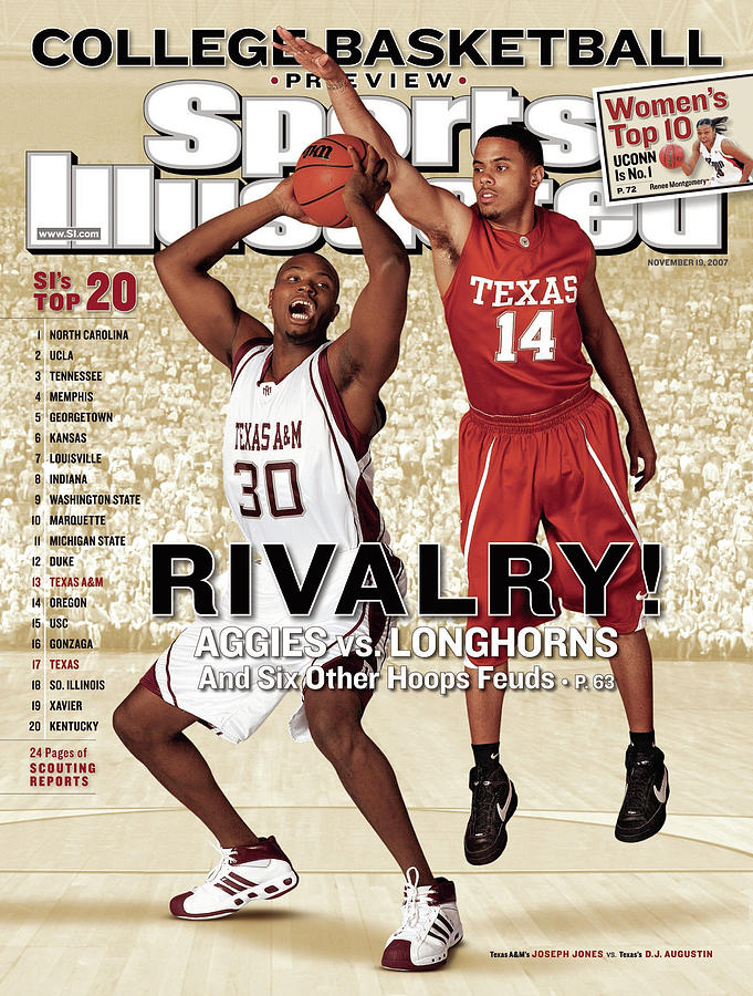 Texas A&m Joseph Jones And University Of Texas D.j Sports Illustrated Cover Photograph by Sports Illustrated