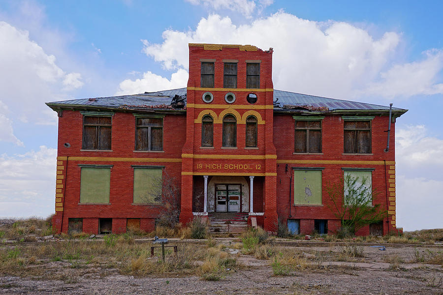 Texas Ghost Town School  by Kelly Gomez