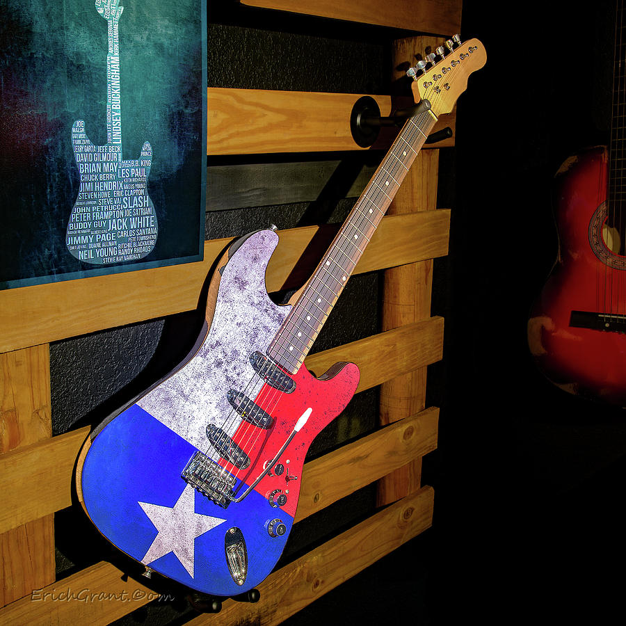 Texas Guitar Art by Erich Grant