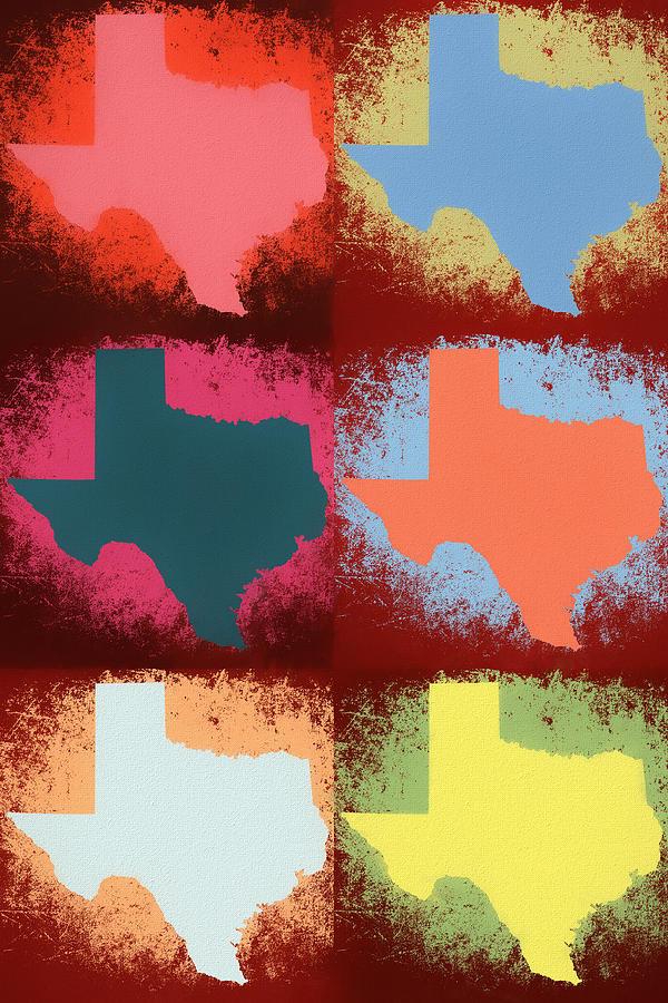 Andy Warhol Mixed Media - Texas Pop Art Panels by Dan Sproul