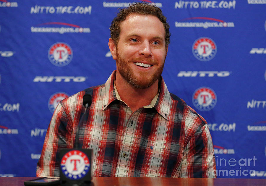 Texas Rangers Introduce Josh Hamilton Photograph by Tom Pennington