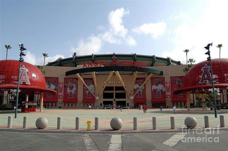 Texas Rangers V Los Angeles Angles Of Photograph by Mlb Photos