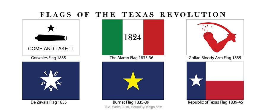 Texas Revolutionary Flags Photograph By Al White