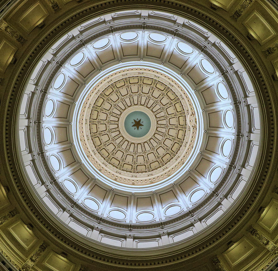 Texas State Capitol Rotunda Dome by Allen Beatty