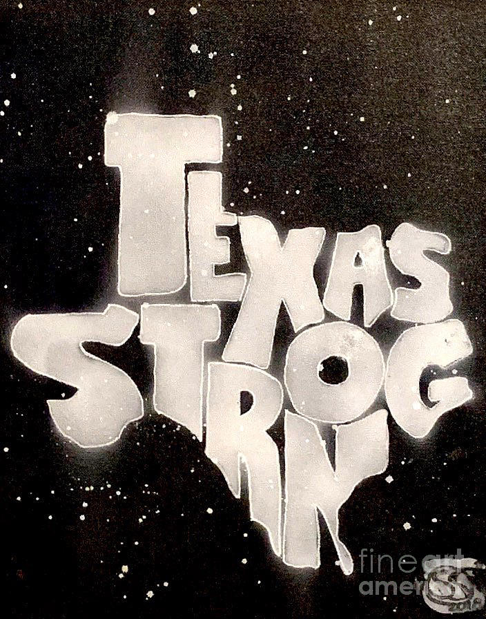 Black Painting - Texas Strong by Samuel Snelling