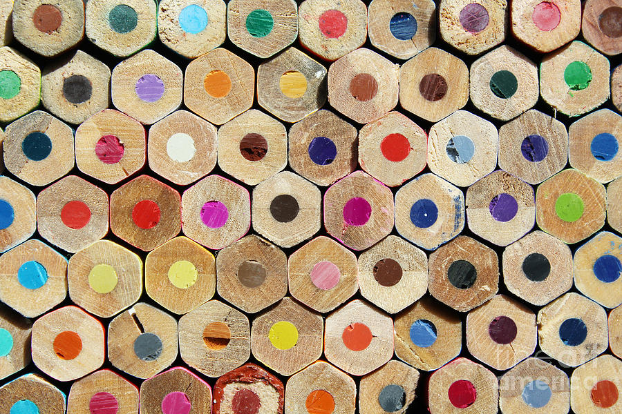 Hive Photograph - Texture Of Colored Pencils by Luma Creative