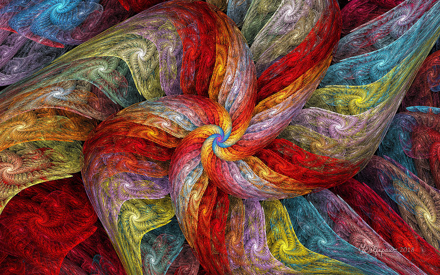 Textured Color Spiral by Peggi Wolfe