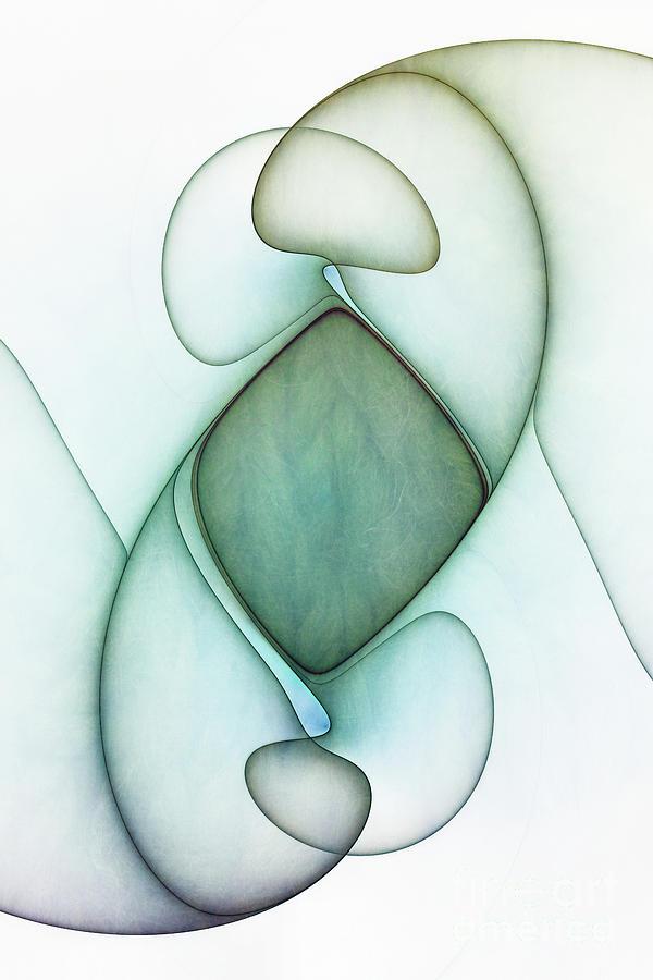 Textured Fractal Abstract by Ann Garrett
