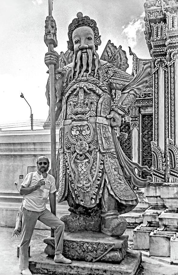 Thai Bodyguard Bw Photograph