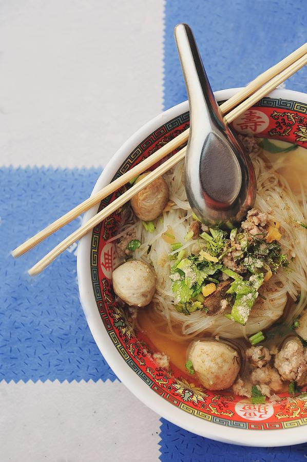 Thai Noodle Bowl Photograph by Carlina Teteris