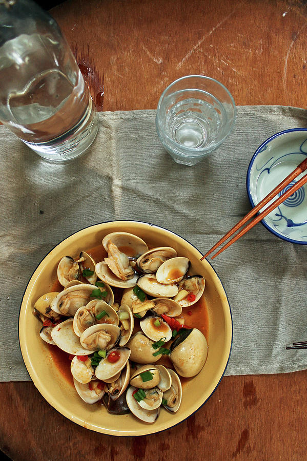 Thai Spicy Chili Clams Stir-fry Photograph by Jen Voo Photography