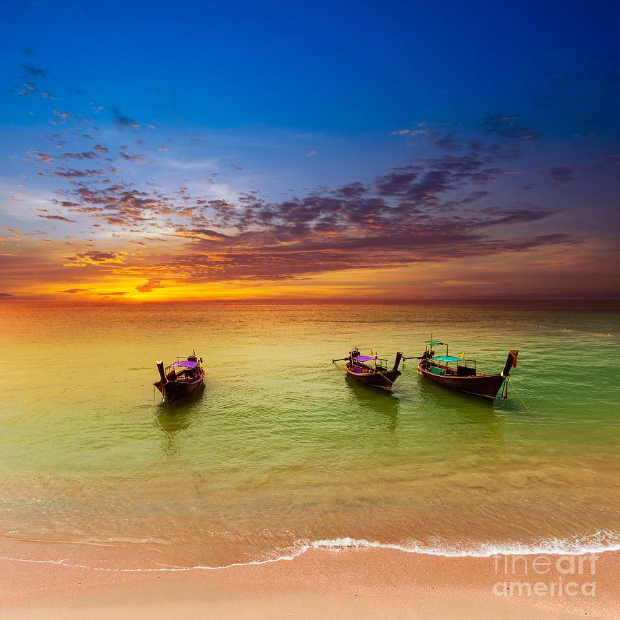 Cloud Photograph - Thailand Nature Landscape. Tourism by Banana Republic Images