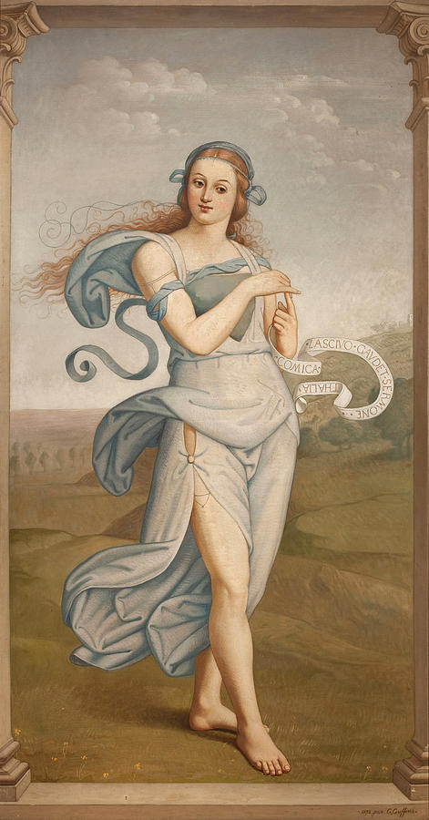 Thalia, Muse of Comedy by Egide Godfried Guffens