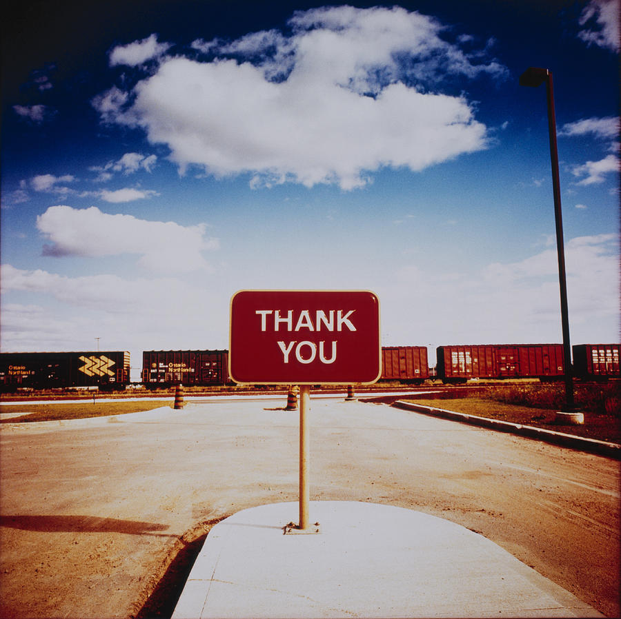 Thank You Sign Photograph by Silvia Otte