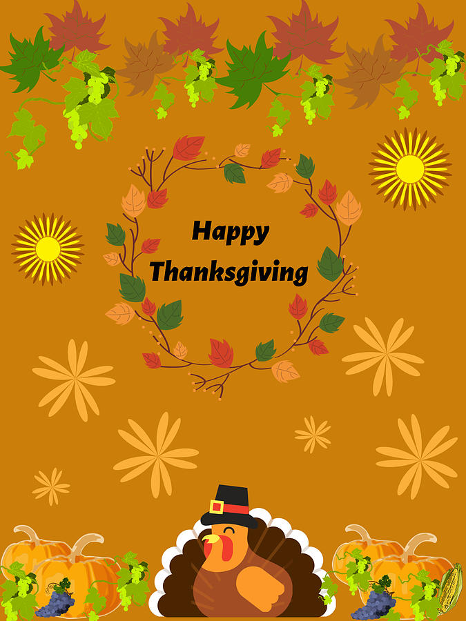 Thanksgiving Digital Art by Zulaika Franco