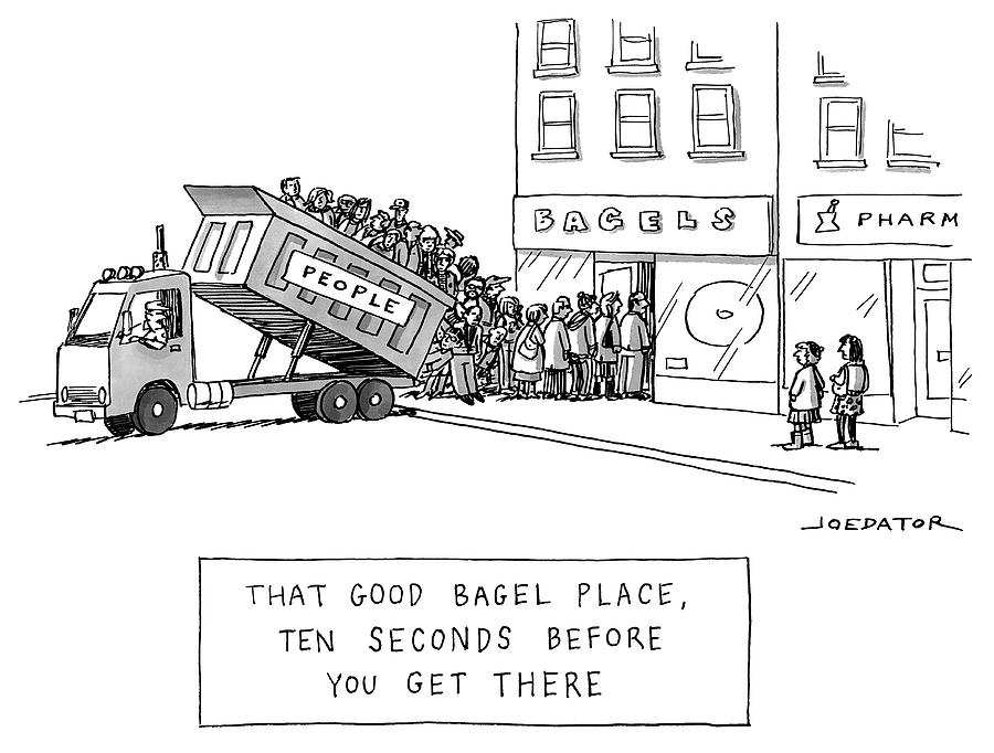 That Good Bagel Place Drawing by Joe Dator