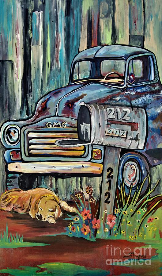 That Old Blue truck by Johnnie Stanfield