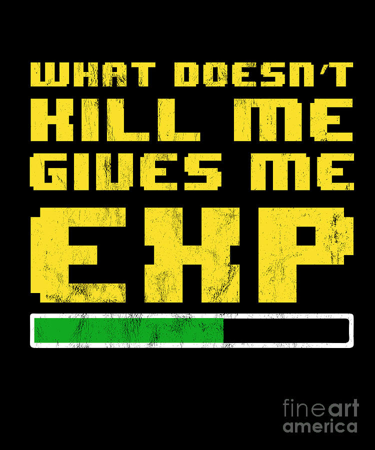 d52381d7 Gift Drawing - That Which Doesnt Kill Me Gives Me Xp Gamer Tshirt by Noirty  Designs