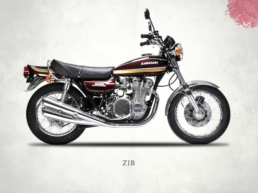 Kawasaki Z1 Photograph - The 1975 Z1b by Mark Rogan