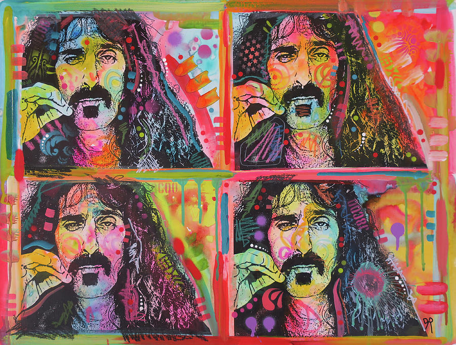 Zappa Painting - The 4 Zappas by Dean Russo Art
