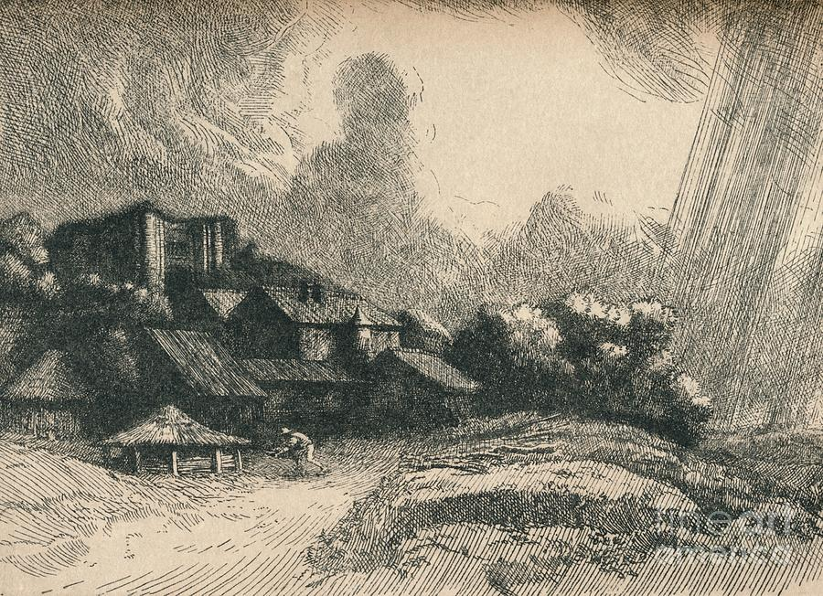 The Abbey Farm Drawing by Print Collector