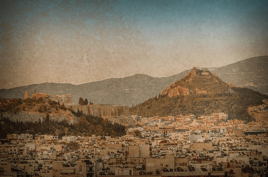 The Acropolis and Lykabettus Hills by Mark Forte