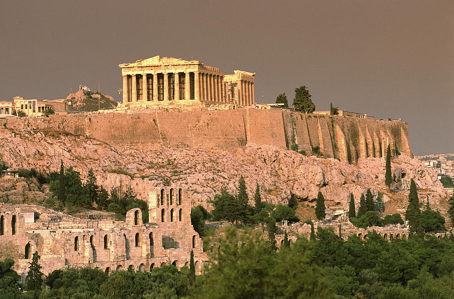 The Acropolis And Parthenon From Photograph by Lonely Planet